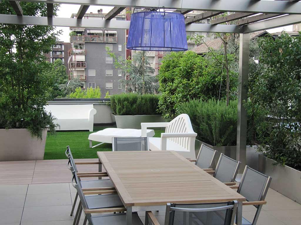 Progettazione giardini milano - Giardino pensile terrazzo ...